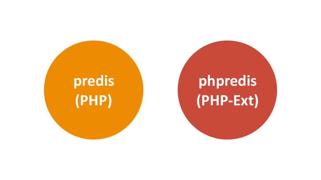 phpredis (PHP-Ext) predis (PHP)