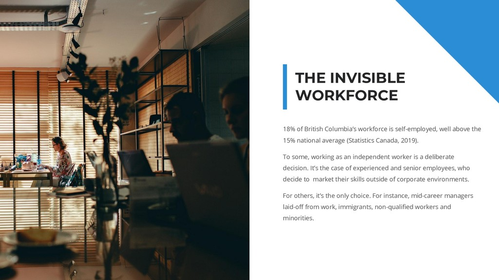 THE INVISIBLE WORKFORCE 18% of British Columbia...