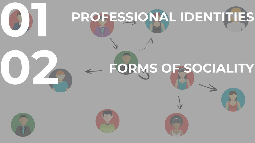 02 FORMS OF SOCIALITY 01 PROFESSIONAL IDENTITIES