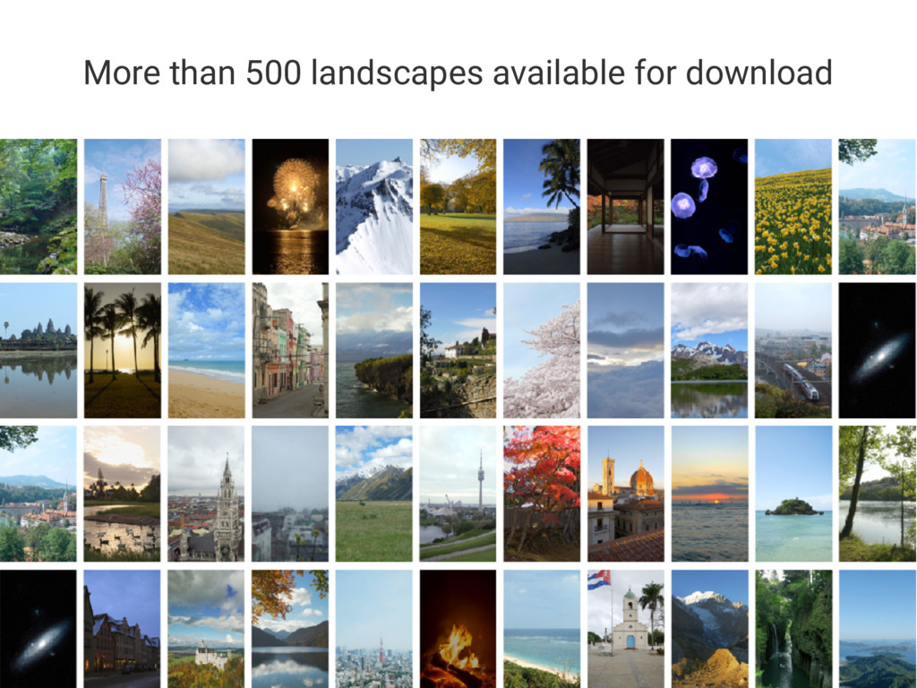 More than 500 landscapes available for download