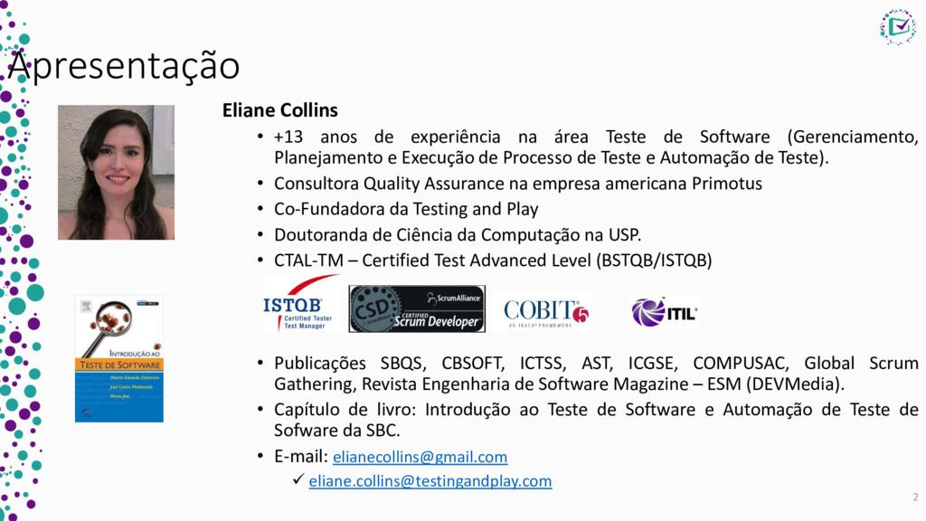 Apresentação Eliane Collins • +13 anos de exper...
