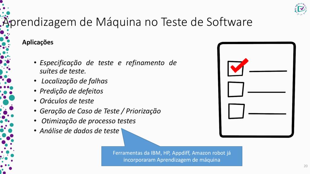 Aprendizagem de Máquina no Teste de Software Ap...
