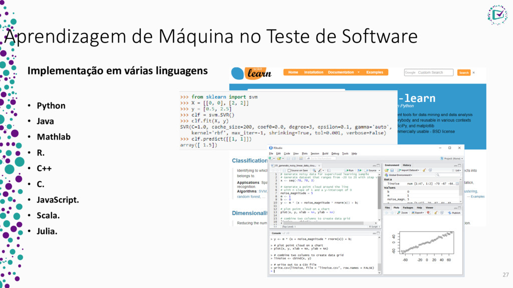 Aprendizagem de Máquina no Teste de Software Im...