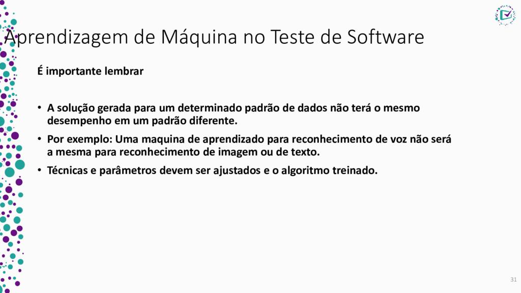 Aprendizagem de Máquina no Teste de Software É ...