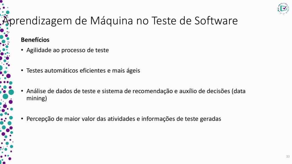 Aprendizagem de Máquina no Teste de Software Be...