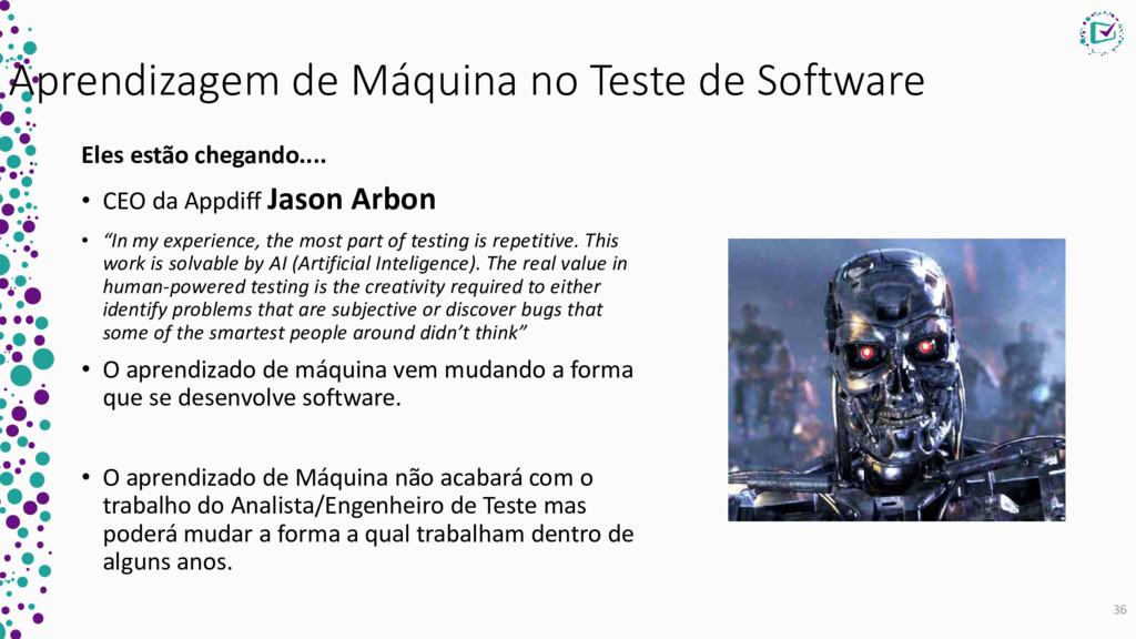 Aprendizagem de Máquina no Teste de Software El...