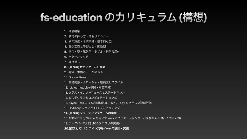 fs-education ͷΧϦΩϡϥϜ (ߏ) 1. ڥߏங   2. ڭࡐͷ୳͠ํɾ...
