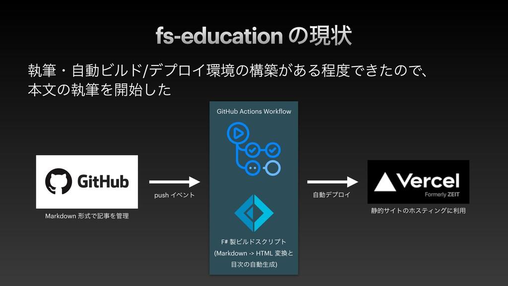 fs-education ͷݱঢ় ࣥචɾࣗಈϏϧυ/σϓϩΠڥͷߏங͕͋ΔఔͰ͖ͨͷͰɺ ...