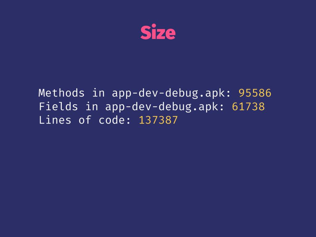 Size Methods in app-dev-debug.apk: 95586 Fields...