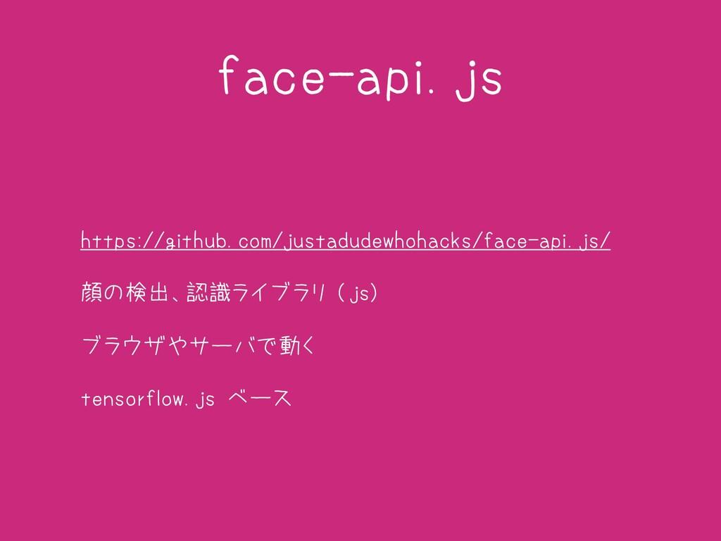 face-api.js • https://github.com/justadudewhoha...