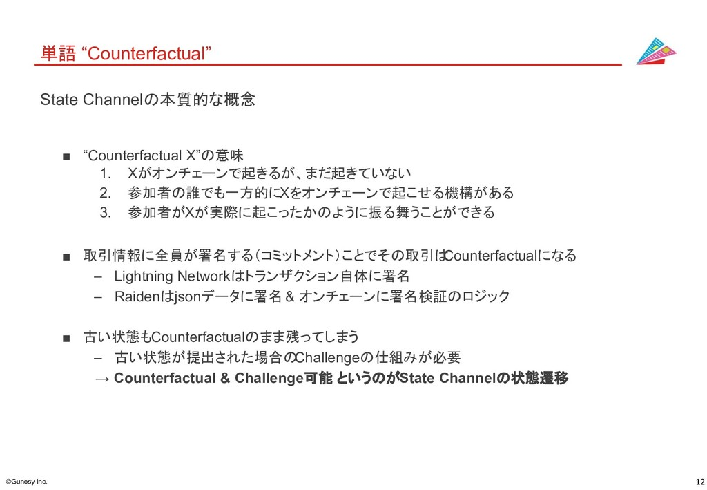 "12 ©Gunosy Inc. 単語 ""Counterfactual"" ■ ""Counterf..."