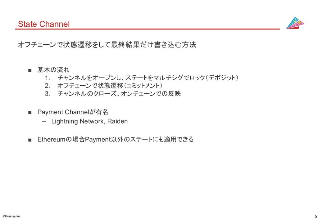 5 ©Gunosy Inc. State Channel ■ 基本の流れ 1. チャンネルをオ...