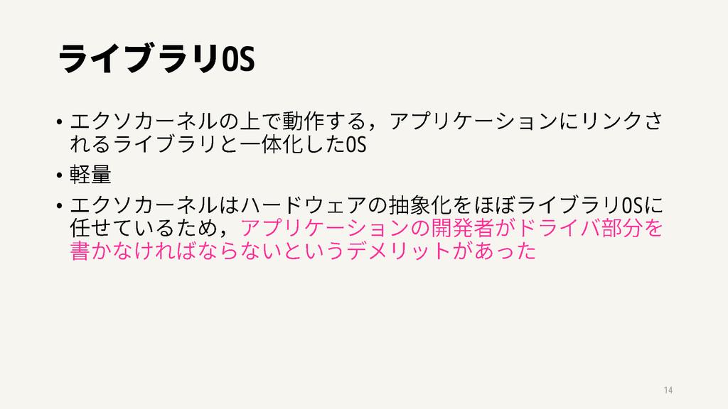OS • OS • • OS 14
