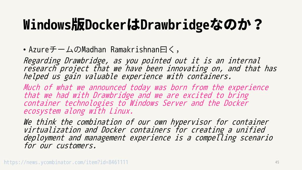 Windows Docker Drawbridge • Azure Madhan Ramakr...