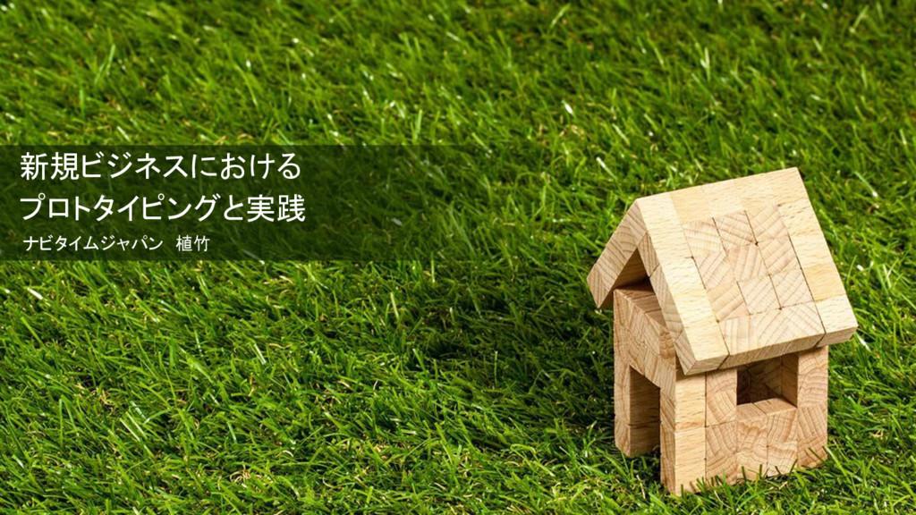 新規ビジネスにおける プロトタイピングと実践 ナビタイムジャパン 植竹