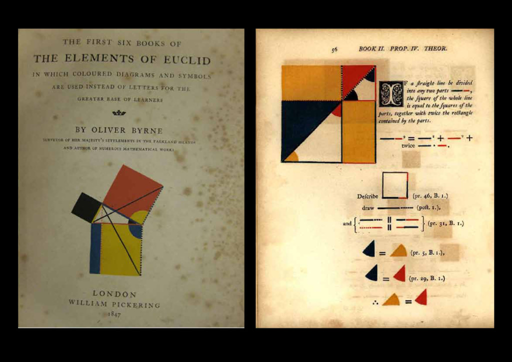 1847 Oliver Byrne, The Elements of Euclid, Will...