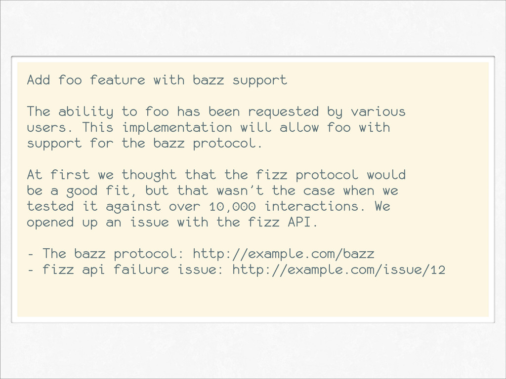Add foo feature with bazz support The ability t...