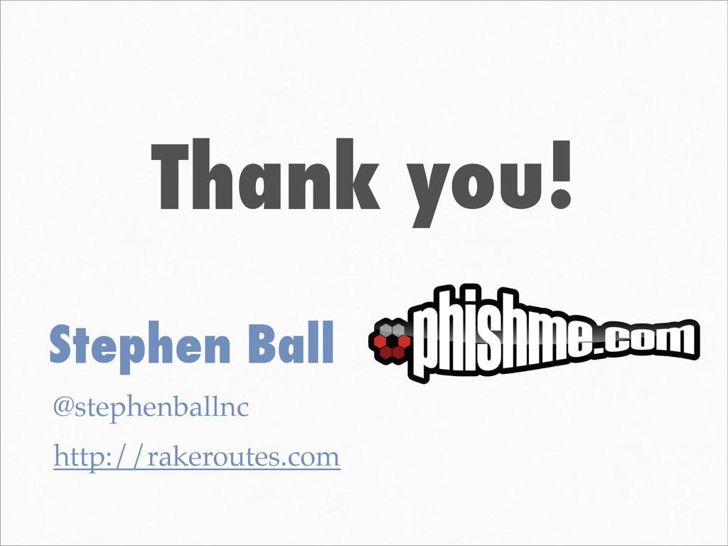 Thank you! Stephen Ball @stephenballnc http://r...