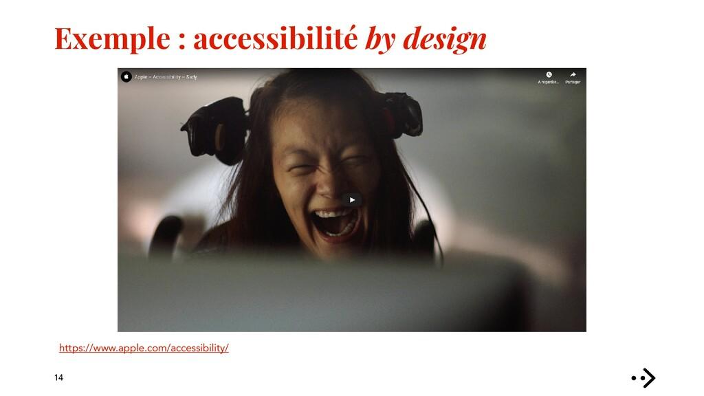 Exemple : accessibilité by design 14 https://ww...