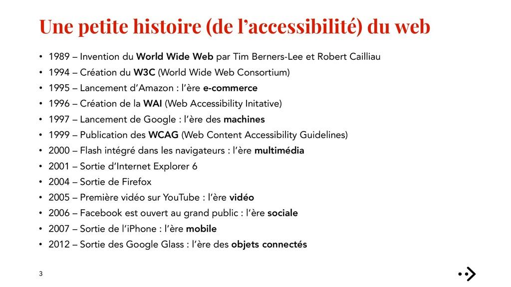Une petite histoire (de l'accessibilité) du web...