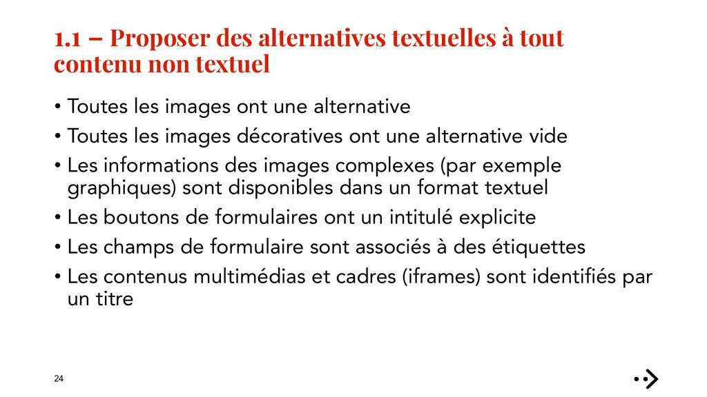 1.1 – Proposer des alternatives textuelles à to...