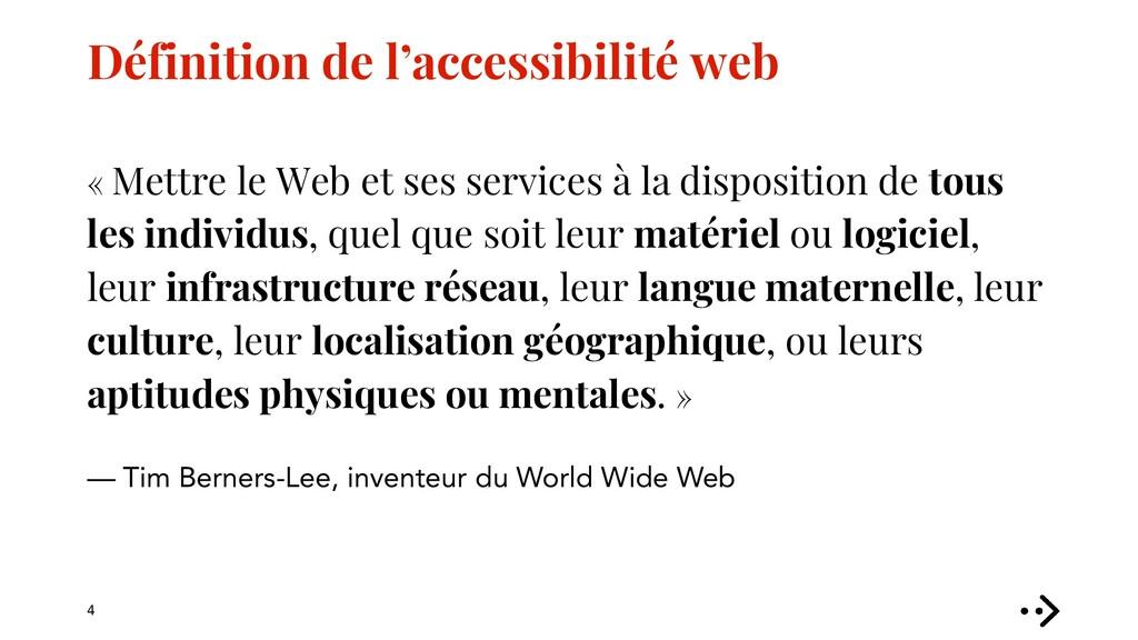 Définition de l'accessibilité web « Mettre le W...