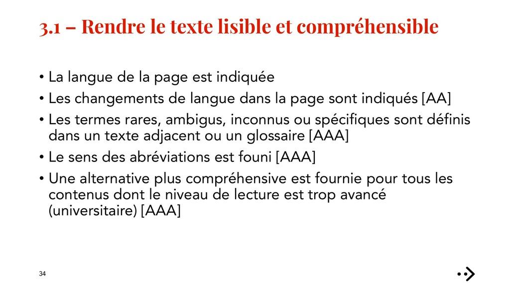 3.1 – Rendre le texte lisible et compréhensible...