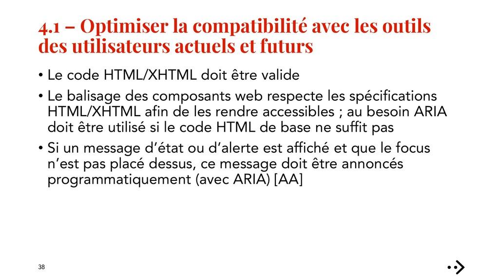 4.1 – Optimiser la compatibilité avec les outil...