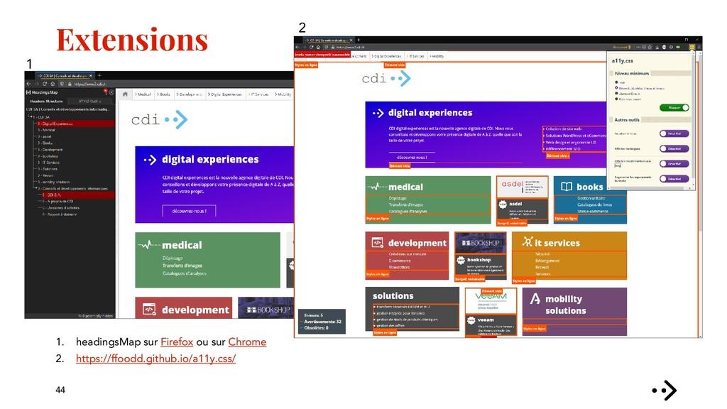 Extensions 44 1. headingsMap sur Firefox ou sur...