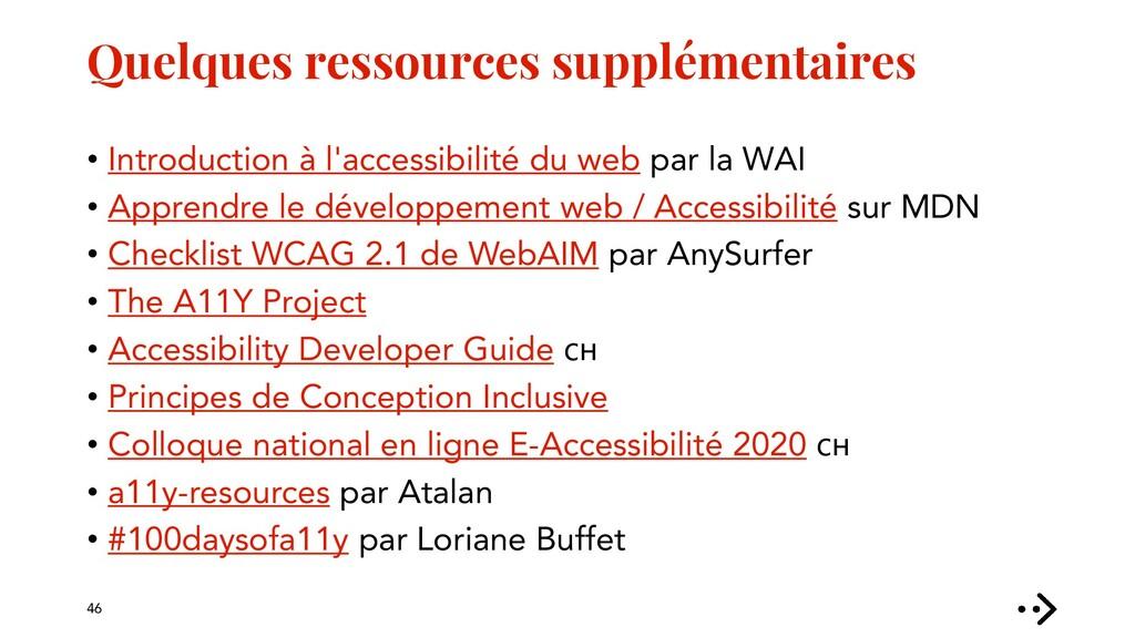 Quelques ressources supplémentaires • Introduct...