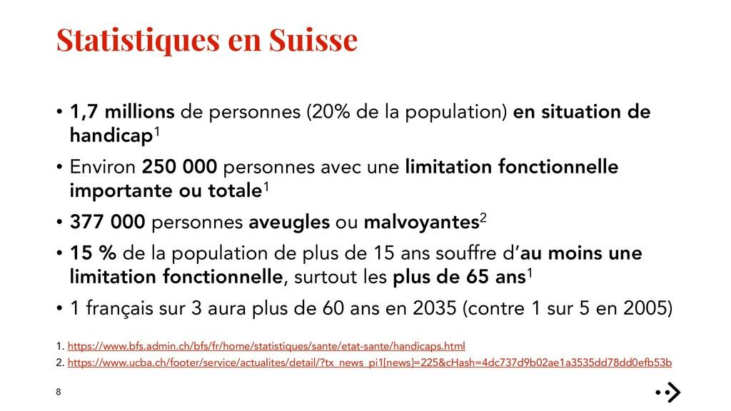 Statistiques en Suisse • 1,7 millions de person...