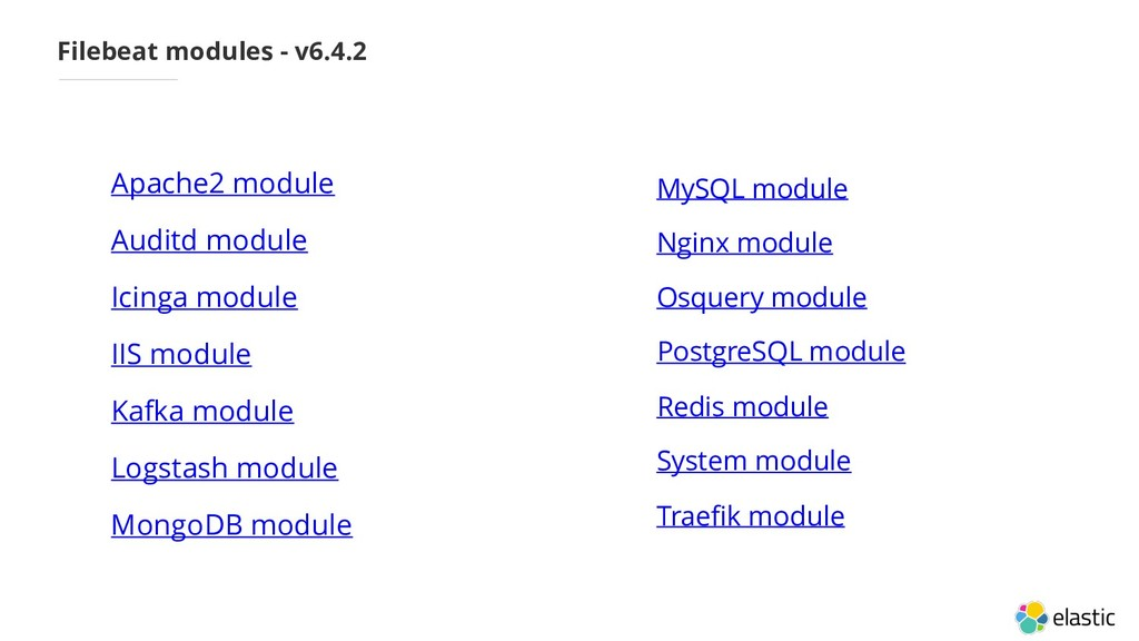 Filebeat modules - v6.4.2 • Apache2 module • Au...