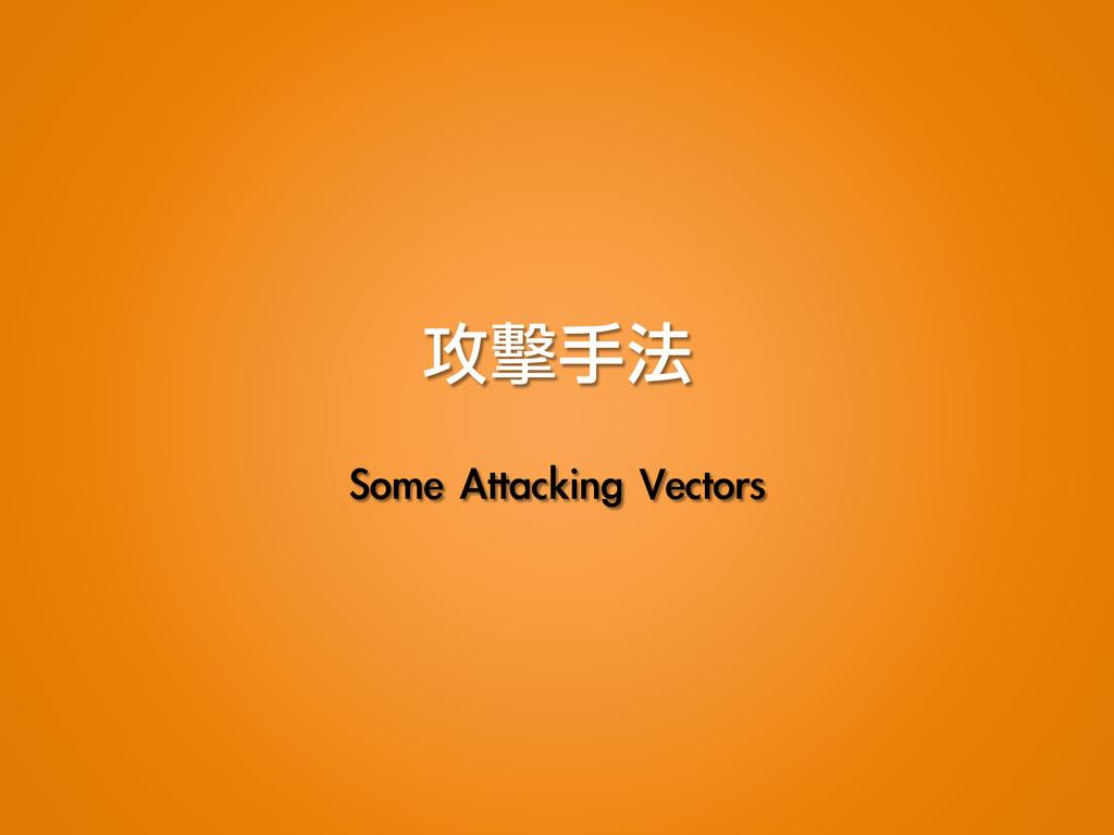 攻擊手法 Some Attacking Vectors