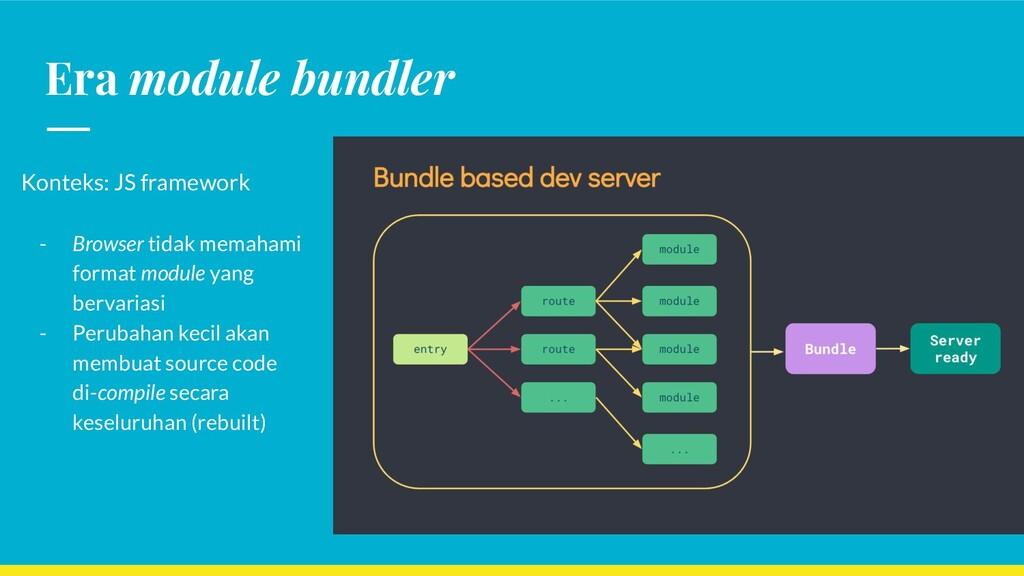 Era module bundler Konteks: JS framework - Brow...