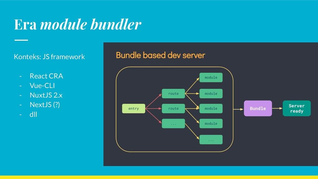 Era module bundler Konteks: JS framework - Reac...