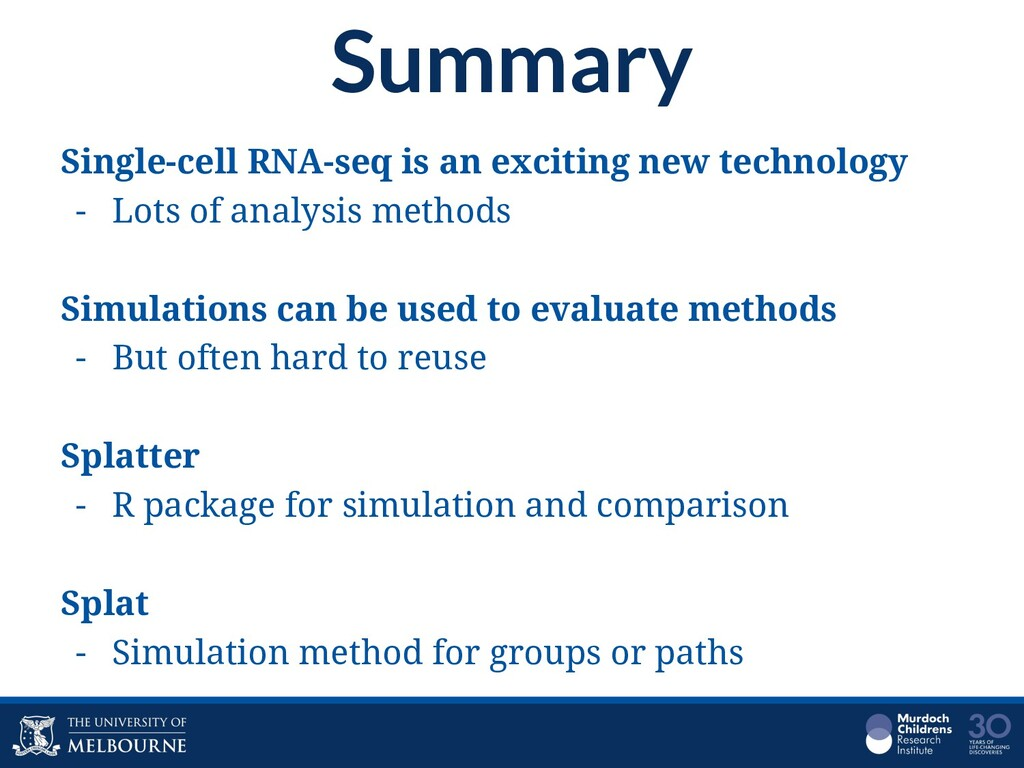 Summary Single-cell RNA-seq is an exciting new ...