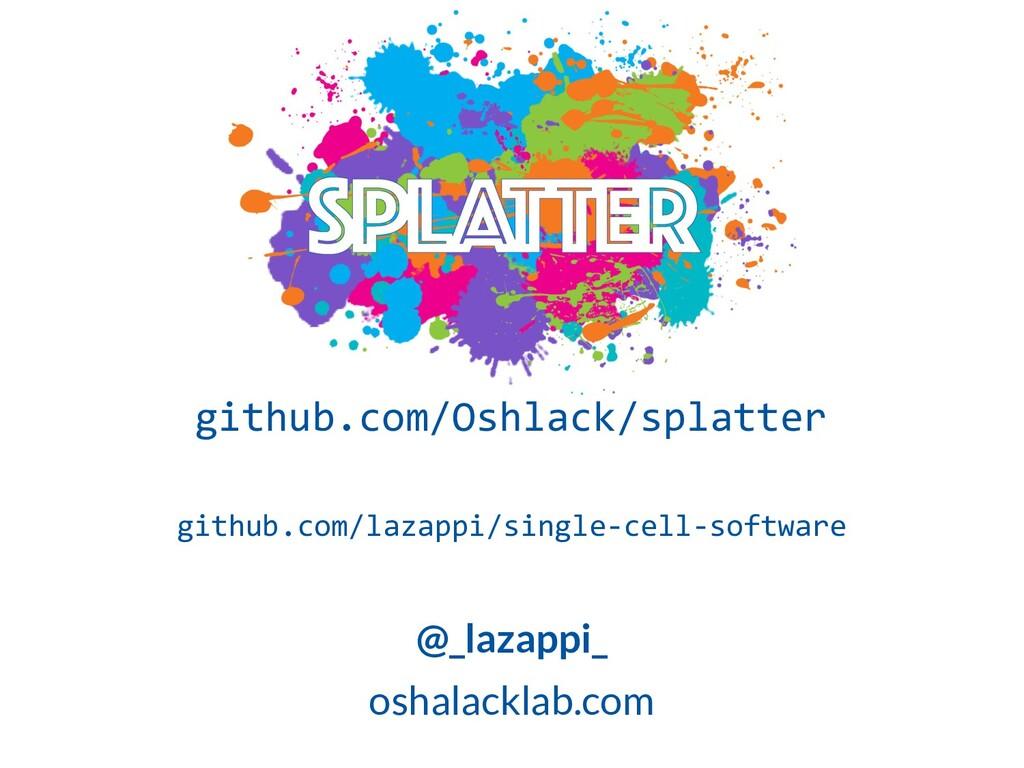 github.com/Oshlack/splatter github.com/lazappi/...