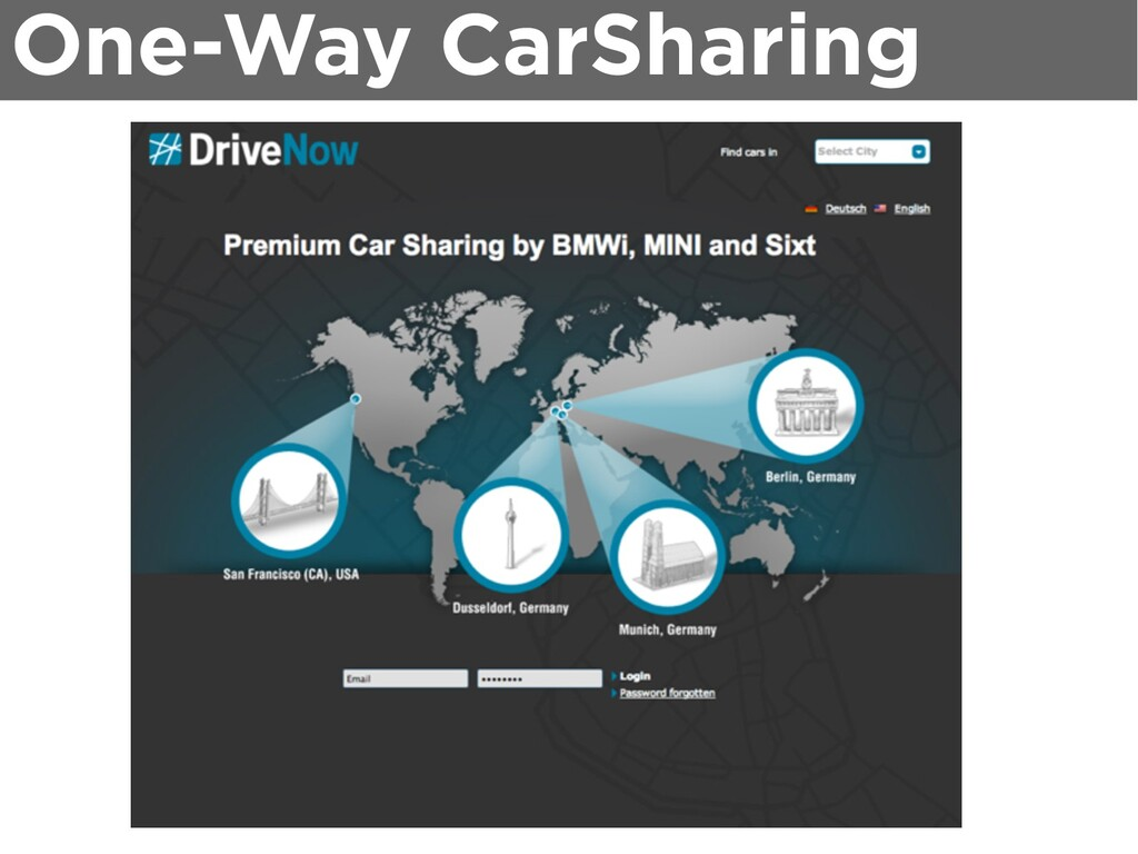 One-Way CarSharing