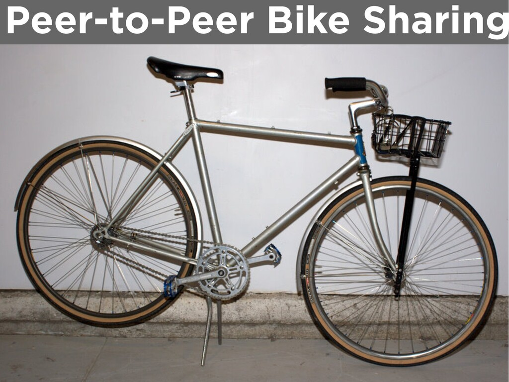 Peer-to-Peer Bike Sharing