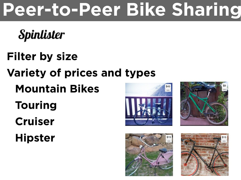 Peer-to-Peer Bike Sharing Filter by size Variet...