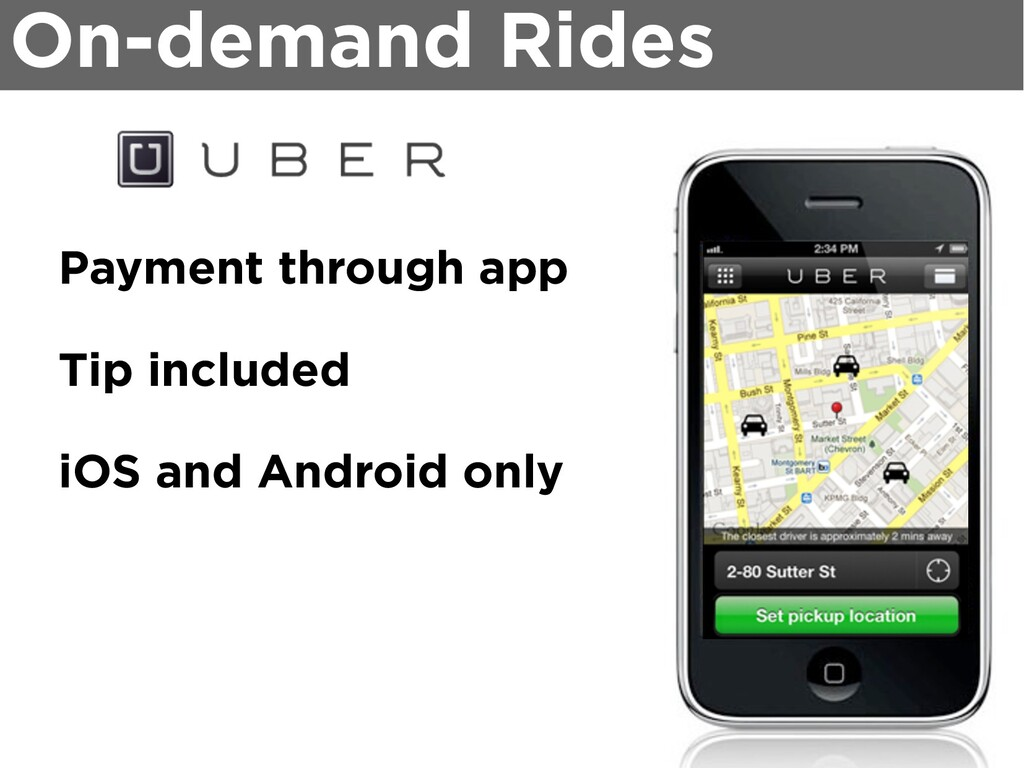 On-demand Rides Payment through app Tip include...