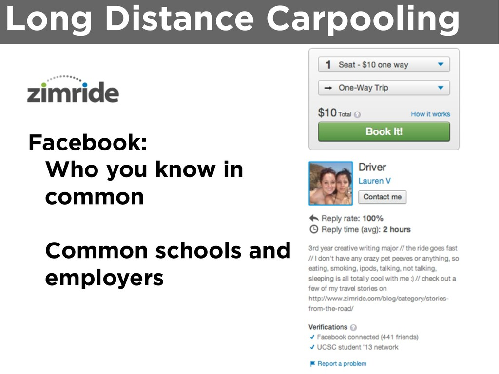 Facebook: Who you know in common Common schools...