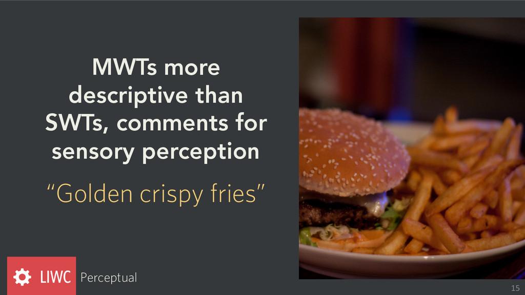 MWTs more descriptive than SWTs, comments for s...