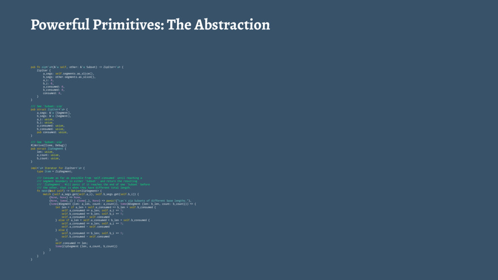 Powerful Primitives: The Abstraction pub fn zip...