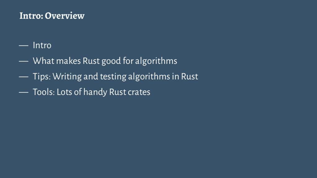 Intro: Overview — Intro — What makes Rust good ...