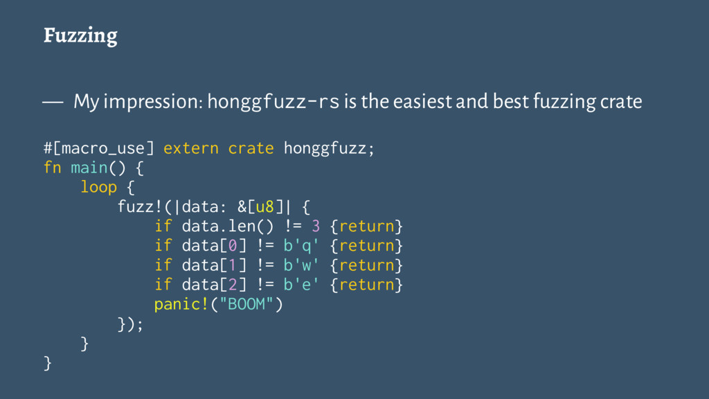 Fuzzing — My impression: honggfuzz-rs is the ea...