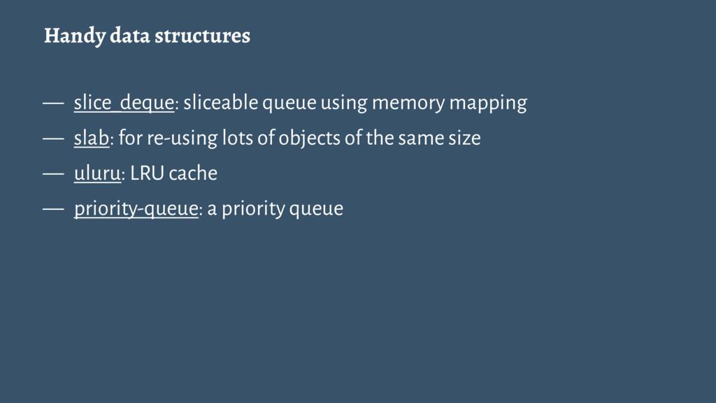 Handy data structures — slice_deque: sliceable ...