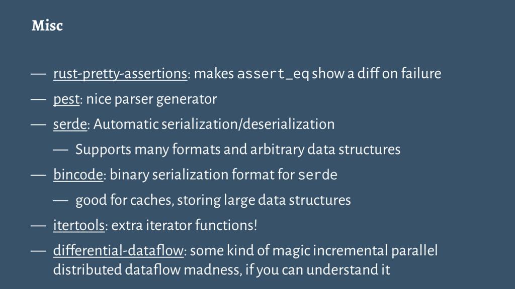 Misc — rust-pretty-assertions: makes assert_eq ...