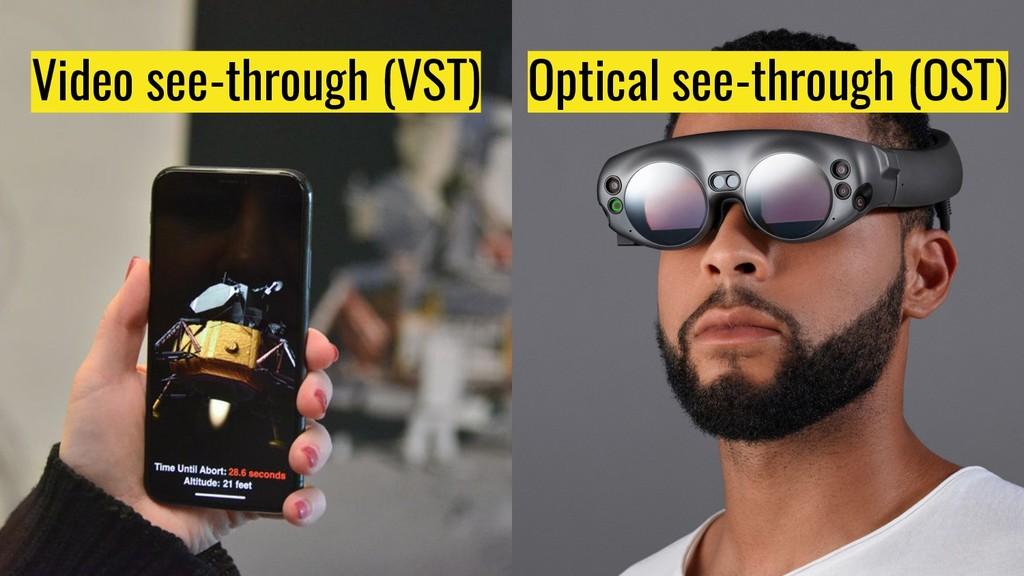 Video see-through (VST) Optical see-through (OS...