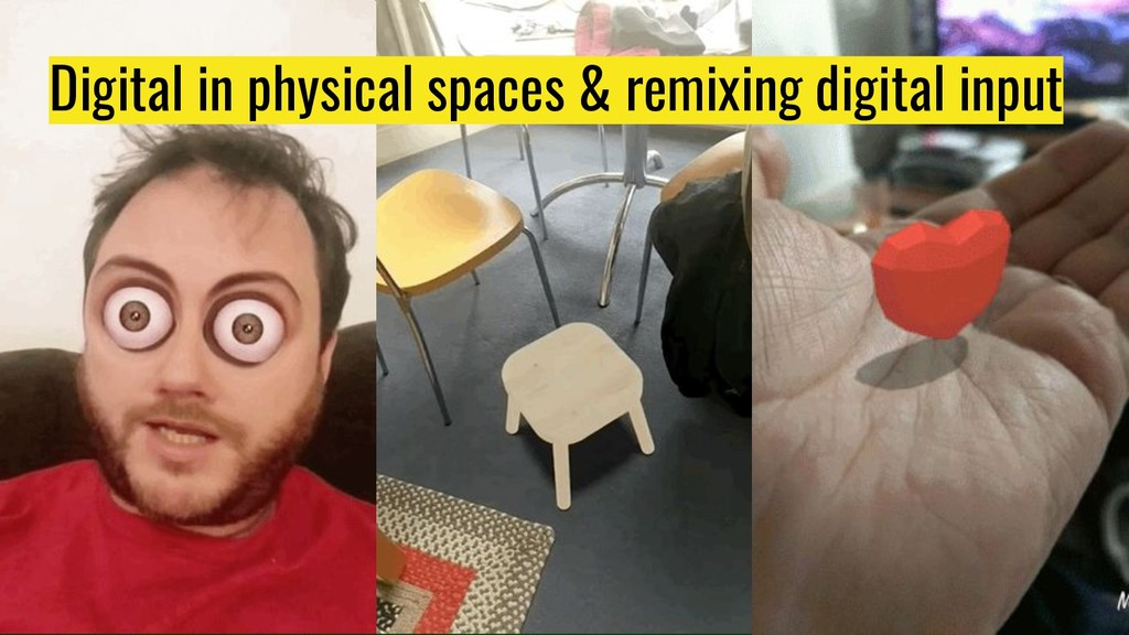 Digital in physical spaces & remixing digital i...